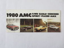 1980 AMC Sales Brochure Catalog Eagle Concord Spirit Pacer AMX Vintage Car