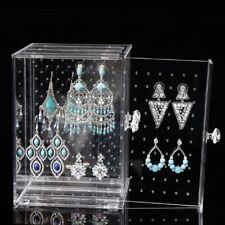 Transparent Acrylic Jewelry Earrings Storage Holer Box Display Stand Rack