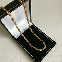 Vintage Napier Gold Plated Rope Twist Chain 18.5in Layering Stacking Signed Gift