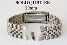 20mm SOLID JUBILEE LINK WATCH BRACELET. CURVED ENDS. VERY GOOD QUALITY