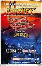Journey/Doobie Brothers/Dave Mason 2016 San Diego Concert Tour Poster- Hard Rock