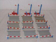 LEGO-VINTAGE-Mega ferrovia segnali + passaggio a livello lot 4,5/12 V Volt