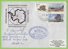 South Africa 1990 Belgium Antarctic Program, Eastern Wedell Sea cachet cover