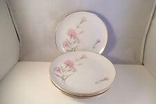 Vintage Royal Court Fine China Japan Carnation Set of 5 Bread Plates