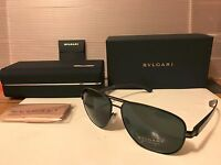 NEW BVLGARI  BV5033 128/87 Sunglasses, Matte Black Frame / Grey Lens