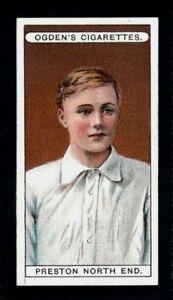 SUPERB OGDENS FOOTBALL CLUB COLOURS 1906 PRESTON NORTH END