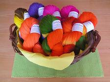 800g Sockenwolle als Angebotspaket in verschiedenen Farben,  4fach handgefärbt