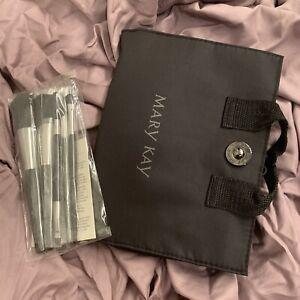 New Mary Kay Brush Collection - 5 Full Size Brush Set W/  Brush Case