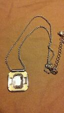 "LIA SOPHIA Yellow Portal Necklace CRYSTAL WITH YELLOW ENAMEL Adjustable 16""-19"""
