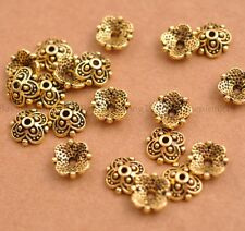 100Pcs Flower Bead Caps Floral Spacer Beads 8MM Tibetan Silver Alloy E3113