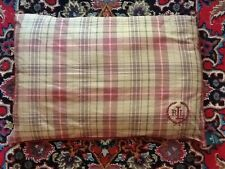 Rare HTF Ralph Lauren  Standard Bed Pillows Plaid Burgundy w/Piping EUC