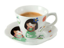 BRANDANI TAZZINA CAFFE HAWAIANA CON PIATTINO IN PORCELLANA NEW BONE CHINA