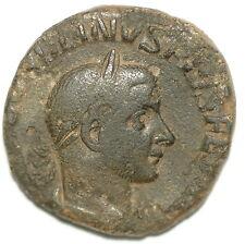 ROMAN BRONZE COIN SESTERTIUS GORDIANUS III VICTORIA AETERNA AE25