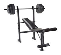 CAP Barbell FMS-CS100P Bench with 100 lbs Weight Set