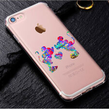 Cartoon Movie Character CLEAR TPU Phone Cover Case for iPhone X Samsung Disney