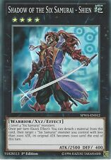 YU-GI-OH CARD: SHADOW OF THE SIX SAMURAI SHIEN - SUPER RARE - SPWA-EN012 1ST ED