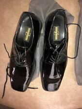 Zengara Men's Black Patent Shoes Size 12m