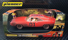 Pioneer SLOT CAR P017 DODGE CHARGER Dukes of Hazzard generale Lee Moonshine Run