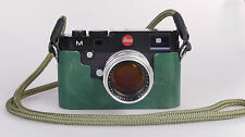Handmade in Germany bois Half case protecteur F. Leica M (type 240 262) vert green