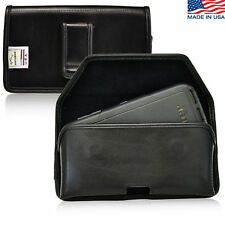 Turtleback Samsung Galaxy S6 Leather Pouch Holster Black Belt Clip Fits Otterbox