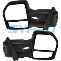 For 2018+ Ford F150 Tow Mirrors Power Heated w/ TurnSignal/Park/Spot/Puddle lamp