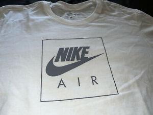 NIKE AIR LOGO MENS LONG SLEEVE TEE SHIRT LARGE L WHITE NWT NEW RARE RETAIL $30