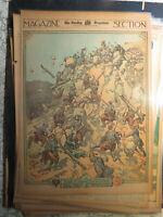 War Art History Newspaper 1913 RUSSIA TURKEY TROOPS BATTLE SHIPKA PASS -NADHERNY