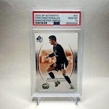 2004 SP Authentic CRISTIANO RONALDO Rookie PSA 10 #37 Manchester United POP 19📈