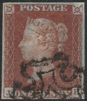 1841 SG8 1d RED BROWN PLATE 16 FINE USED 4 MARGIN MALTESE CROSS (JH)