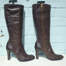 Topshop Leather Boots Size UK 6 Eur 39 Womens Ladies Shoes Brown Boots
