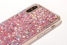 Glitter Rubber TPU Gel Soft for Iphone X Case + Screen Protector