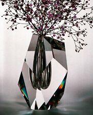 NEW in RED BOX STEUBEN DIAMOND CUT VASE crystal ornament prism excalibur arctic!