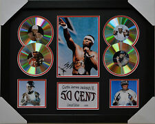 50 CENT SIGNED MEMORABILIA FRAMED 4 CD LIMITED EDITION #A