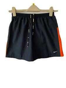 Nike Dri Fit Running Shorts Navy Blue Red Men M Medium Sports Fitness