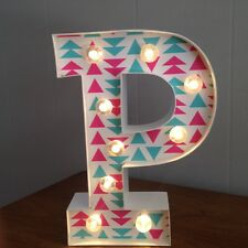"""Letter P Light Up Sign - 10"""" Tall - Home Decor - New w/ Tags - LED - White"""