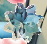 5 Clear Star Chandelier Crystals 38mm Faceted Suncatcher Prisms