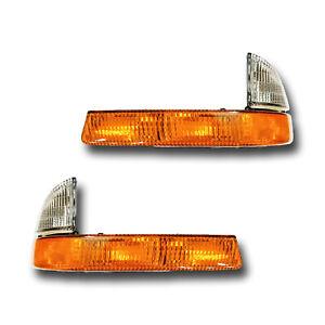 Fits 99-03 Dodge Dakota Durango Driver Passenger Signal Parking Light Lamp Pair