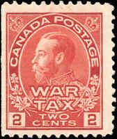 Mint H Canada 2c 1915 F+ Scott #MR2 War Tax Stamp