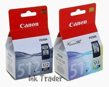 Original Canon PG512 Black & CL513 Colour Ink Cartridges for Pixma MP230