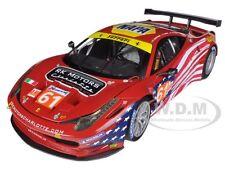 ELITE FERRARI 458 ITALIA GT2 #61 LM 2012 AF CORSE 1/18 HOTWHEELS BCT78