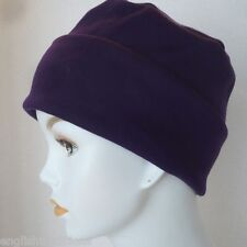 Blackberry Purple Rolled Cuffed Chemo Cancer Hair Loss Hat Turban stylish Cap