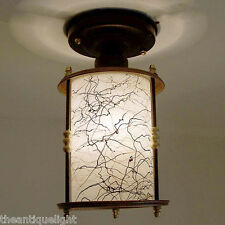524  Vintage 50's 60's Ceiling Light Lamp Fixture Glass Fixture Hall Porch