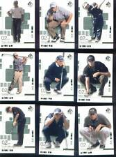2002 UPPER DECK SP AUTHENTICS COMPLETE 90 GOLF CARD SET