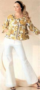 Karen Kane NWT $286   Wide Leg Jeans & Floral Jacket  4   Free Shipping!