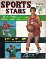 1950 Sports Stars Magazine, Gene Melchiorre, Bob Williams, Kyle Rote ~ Good