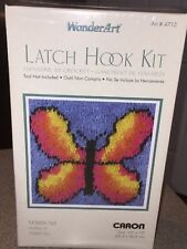 Caron WonderArt Latch Hook Kit Butterfly Fantasy 12 x 12 Art # 4712 New