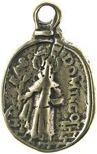 ST. DOMINIC / HOLY MAGI KING Medal, bronze, cast from antique Italian original