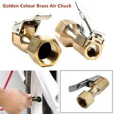 2PCS Heavy Duty Golden Brass Clip-on Female1/4''NPT Tyre Inflater Air Chuck Trim