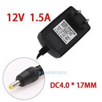 EU-Stecker Netzteil Netzadapter AC110-240V auf/zu DC12V 1.5A Adapter 4.0 X 1.7mm