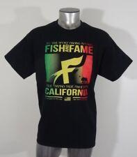 Fish & Fame true sport fisherman apparel men's t-shirt black L new